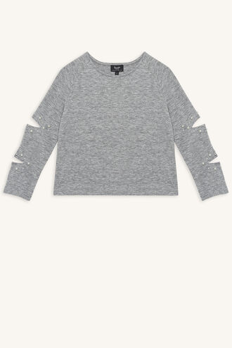 CELINE KNIT TOP in colour NIMBUS CLOUD
