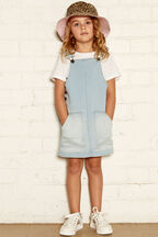 ELSA KNIT DENIM PINNY in colour DREAM BLUE