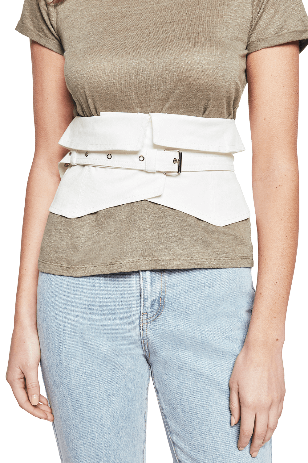 ISABELLE WRAP BELT in colour CLOUD DANCER