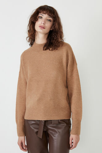 ANNIE OVERSIZED KNIT in colour PALE DOGWOOD
