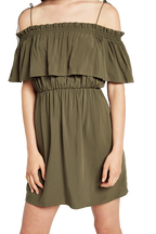 CHELSEA DRESS in colour DEEP LICHEN GREEN
