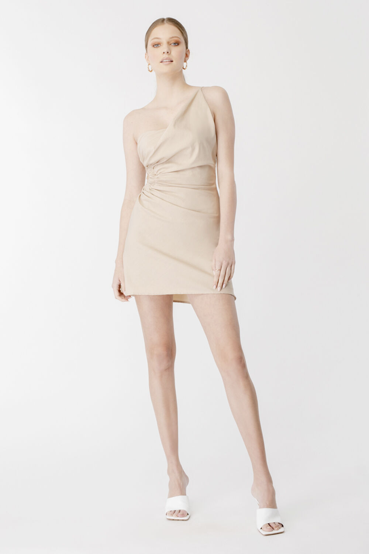 DRAPE ATHENA MINI DRESS in colour MOONLIGHT
