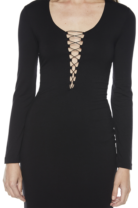 STRUNG OUT DRESS in colour CAVIAR