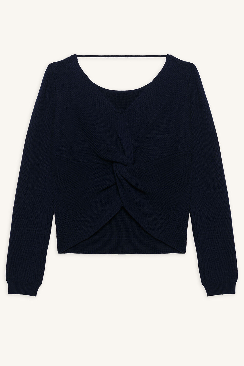 KNOT BACK SWEAT TOP in colour DRESS BLUES