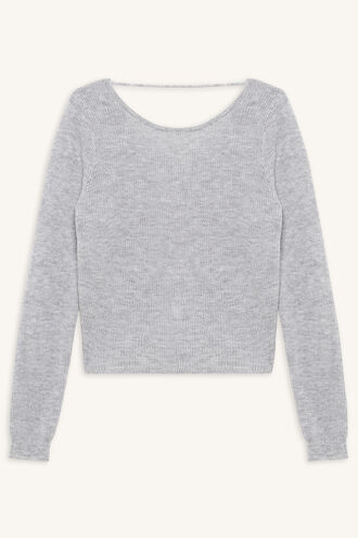 KNOT BACK SWEATER in colour MOONBEAM