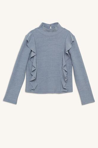 SKYLER BASIC TOP in colour CELESTIAL BLUE