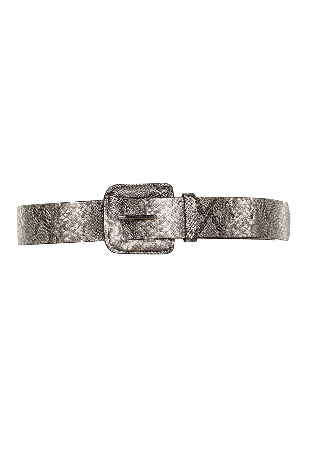 SNAKE COVERED BUCKLE BELT in colour METEORITE