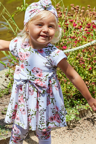 AUDRINA BOW DRESS in colour SNOW WHITE
