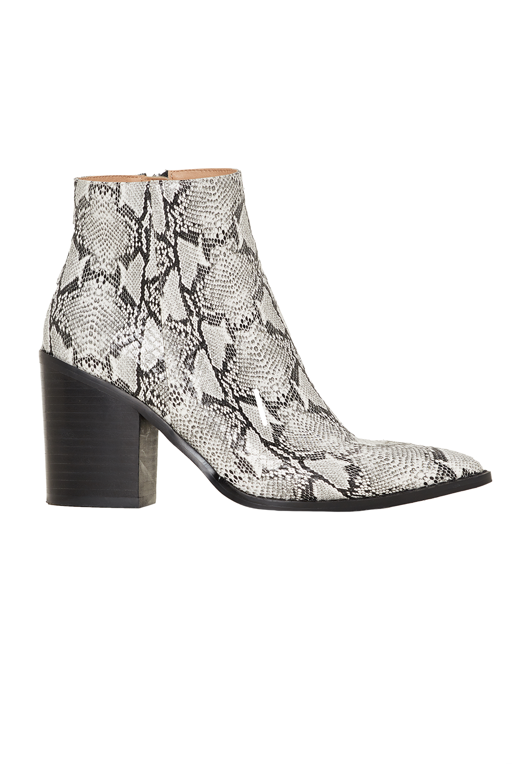 SNAKE POINT ANKLE BOOT in colour ANTELOPE