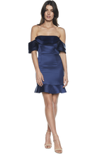 ATHENA FRILL DRESS in colour DRESS BLUES