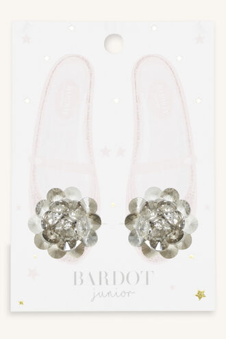 FLOWER  SHOE CLIPS in colour BRIGHT WHITE