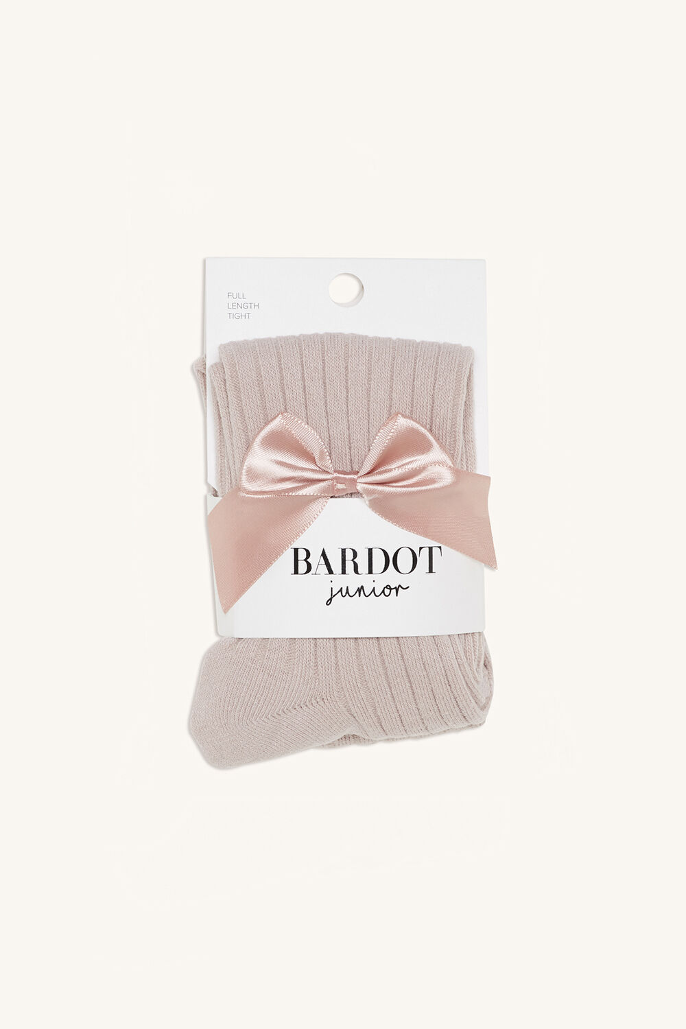 BABY BOW RIBBED TIGHTS in colour PINK CARNATION