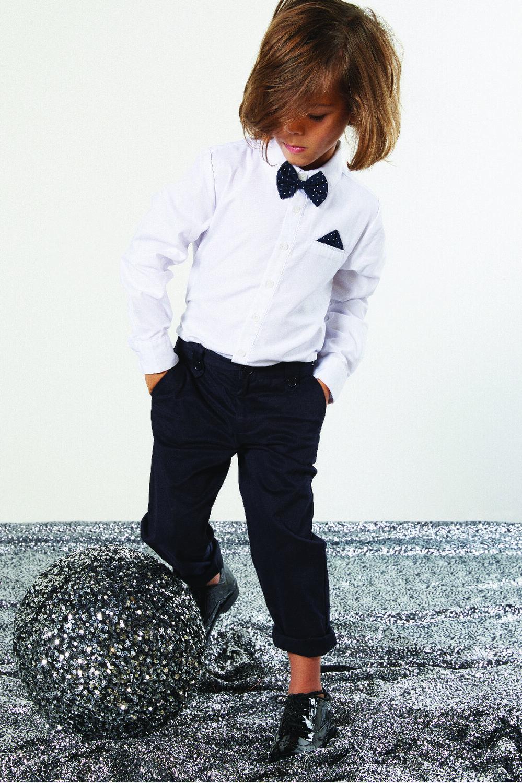 JUNIOR BOY DAPPPER SHIRT in colour BRIGHT WHITE