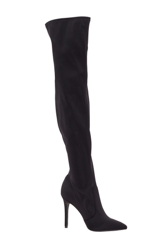 OVER THE KNEE BOOT in colour METEORITE