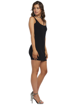 MANHATTAN KNIT DRESS in colour CAVIAR