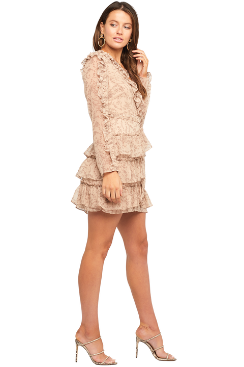 ALESSIA FRILL DRESS in colour MOONLIGHT