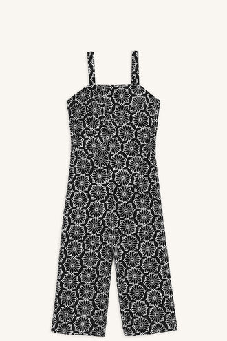 TWIST JUMPSUIT in colour CAVIAR
