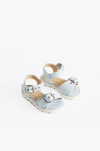 BUCKLE EYELET SANDAL in colour CHAMBRAY BLUE