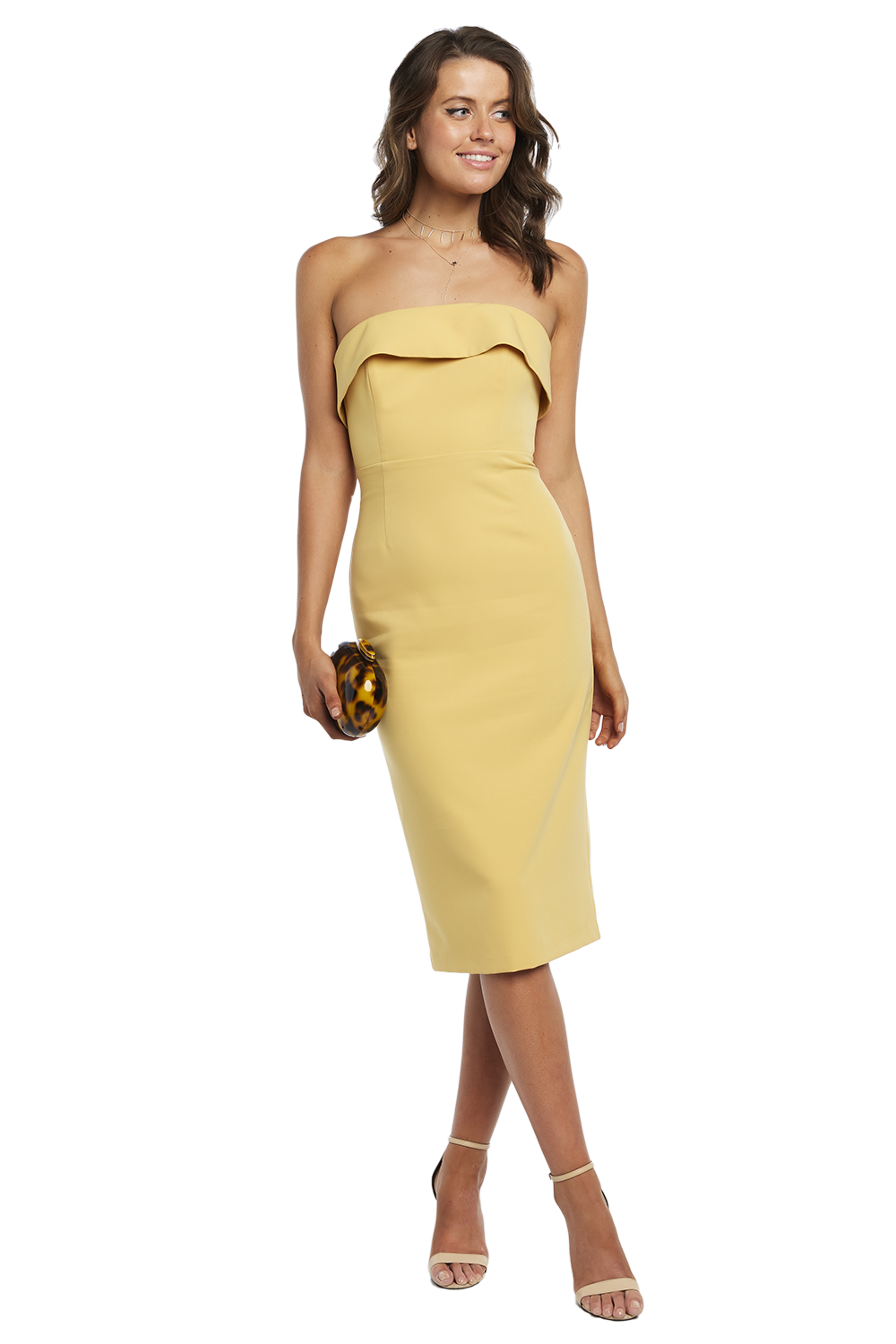 GEORGIA DRESS in colour MISTED YELLOW