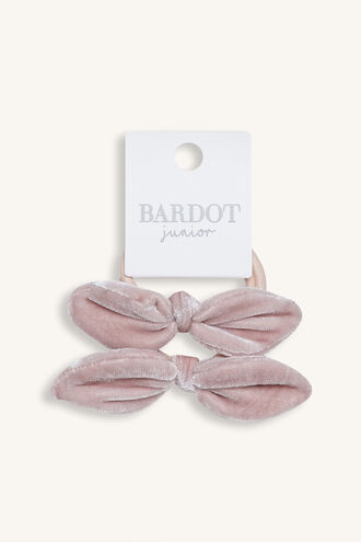 HAIR BOW TIES in colour DUSTY PINK