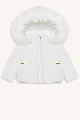 SNOW BUNNY PUFFA JACKET in colour BRIGHT WHITE