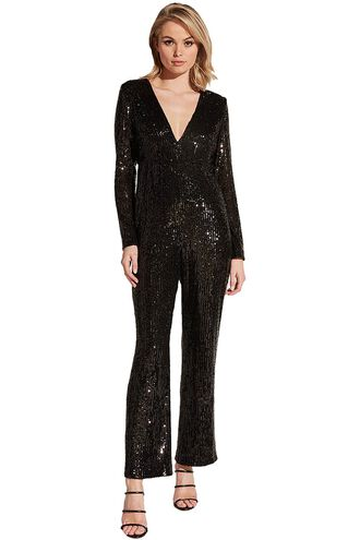 DITA SEQUIN J/SUIT in colour CAVIAR