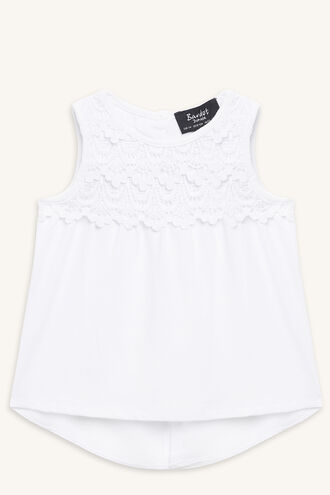 LACE TRIM TANK in colour BRIGHT WHITE