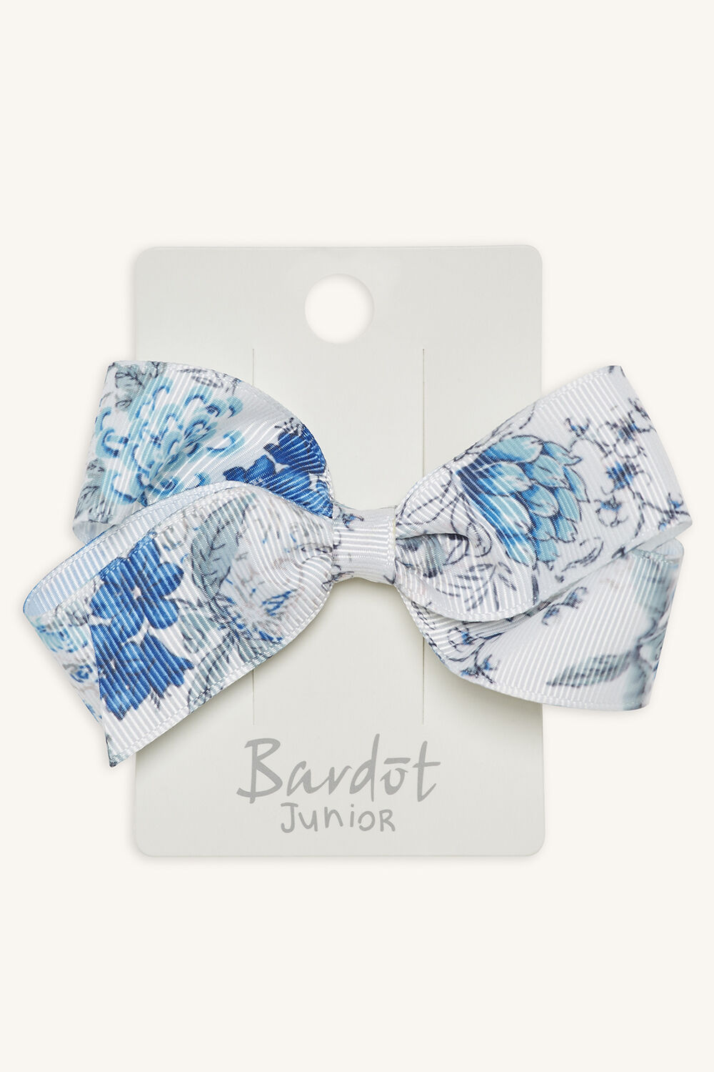 FLORAL GROS GRAIN BOW in colour BLUE BELL