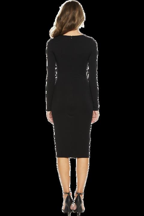 GEMMA KNIT DRESS in colour CAVIAR