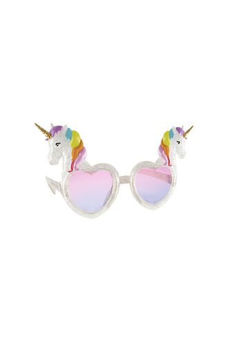 Unicorn Kids Sunnies in colour BRIGHT WHITE