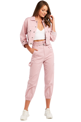 BATES UTILITY PANT in colour CAMEO PINK