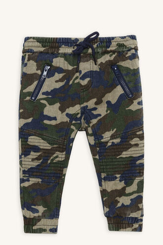 CAMO SLOUCH JEAN in colour DRESS BLUES