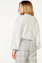 CHLOE COSY CROP KNIT in colour HIGH-RISE