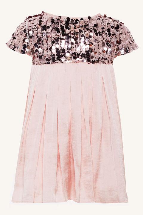 NOLENE SEQUIN DRESS in colour PRIMROSE PINK