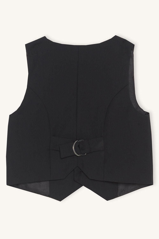baby boy oscar suit vest in colour JET BLACK
