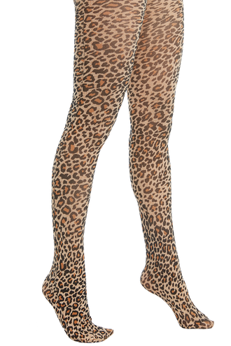 LEOPARD TIGHTS in colour ANTELOPE
