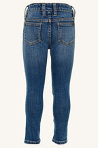 TWEEN GIRL KHLOE HI CROP JEANS in colour TRUE NAVY
