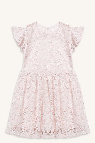 TILLY LACE DRESS in colour CRYSTAL PINK
