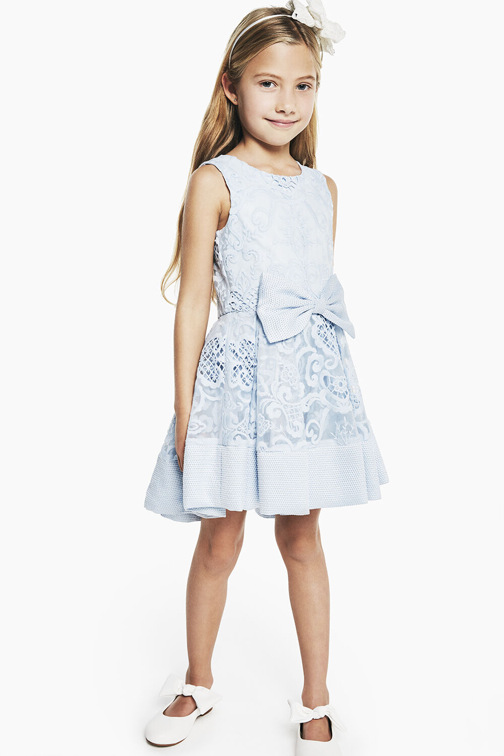 JUNIOR GIRL  AVA STARLET DRESS   in colour BALLAD BLUE