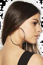 SUPER HOOP EARRING in colour SILVER