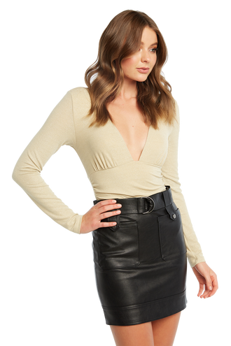 LUREX BODYSUIT in colour CHAMPAGNE BEIGE