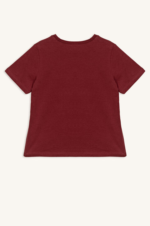 WILD & YOUNG TEE in colour BURNT RUSSET