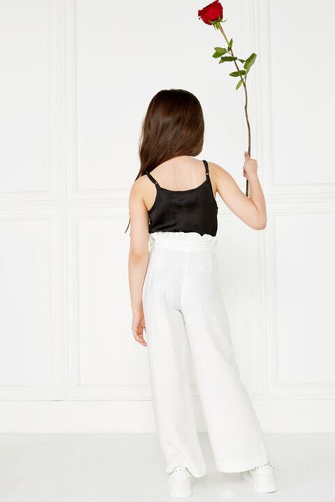 NATALIE CULLOTE PANT in colour CLOUD DANCER
