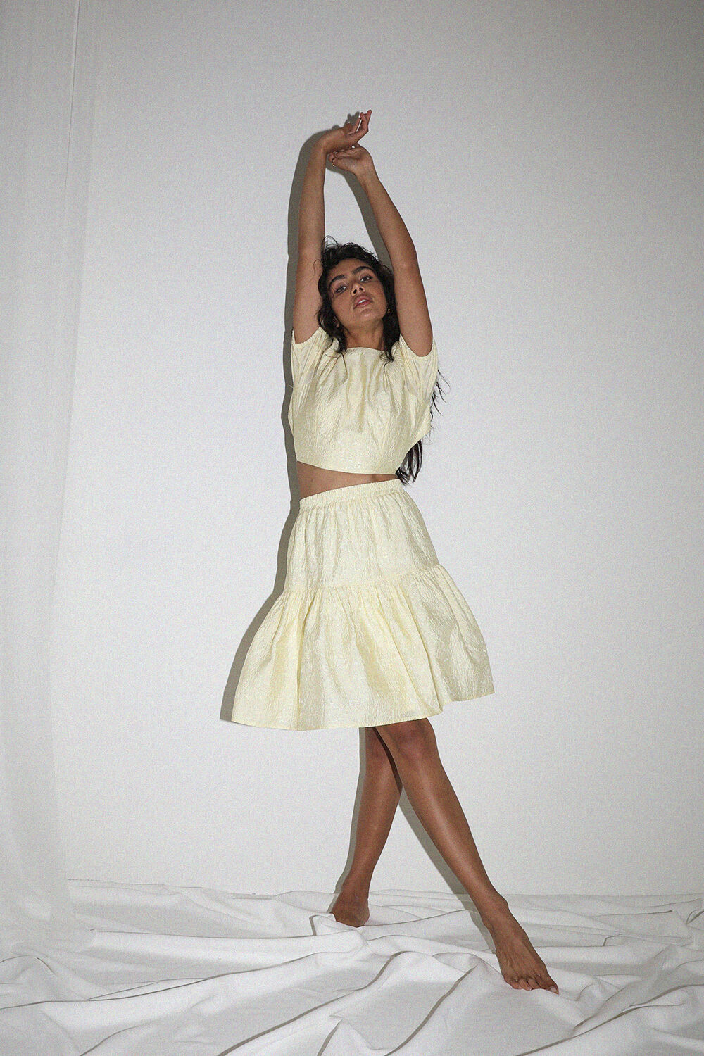 DEMI SKIRT in colour TRANSPARENT YELLOW