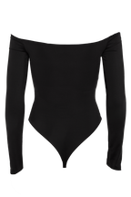 POPPY LONG SLEEVE BODYSUIT in colour CAVIAR