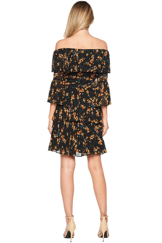 DITSY PLEAT DRESS in colour CAVIAR