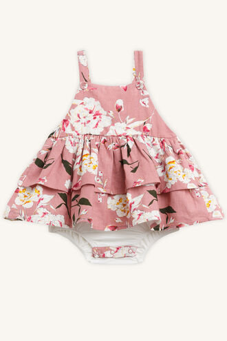 FRILL APRON GROW in colour BRIDAL ROSE