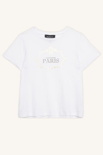 FRENCHY CHAIN TEE in colour BRIGHT WHITE