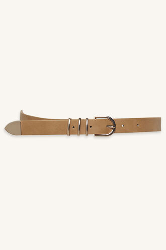 TRIPLE LOOP JEAN BELT in colour BEIGE