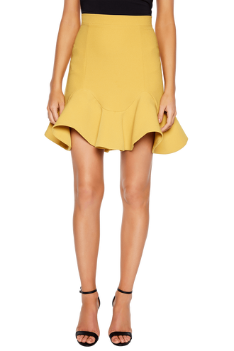 LAURIE MINI SKIRT in colour MISTED YELLOW
